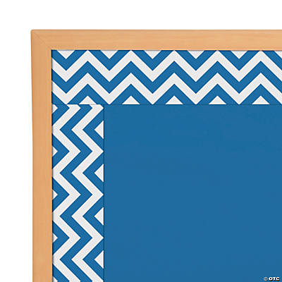Blue Chevron Bulletin Board Borders