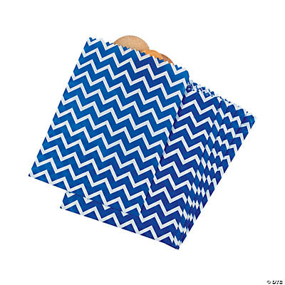 Blue Chevron Treat Bags