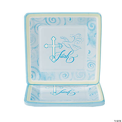 Blue Faithful Dove Dinner Plates
