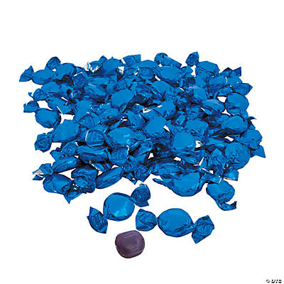 Blue Foil-Wrapped Hard Candy