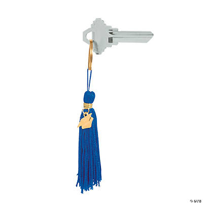 Blue Graduation Tassel Key Chains