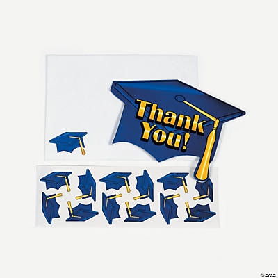 "Blue Graduation ""Thank You"" Cards"