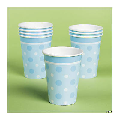 Blue Polka Dot Cups