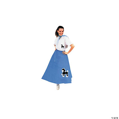 Blue Poodle Skirt Adult Women's Costume