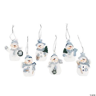 Blue Snowman Christmas Ornaments