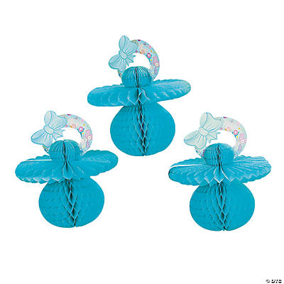 Blue Tissue Paper Baby Pacifier