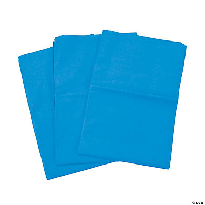 60 Blue Tissue Paper Sheets