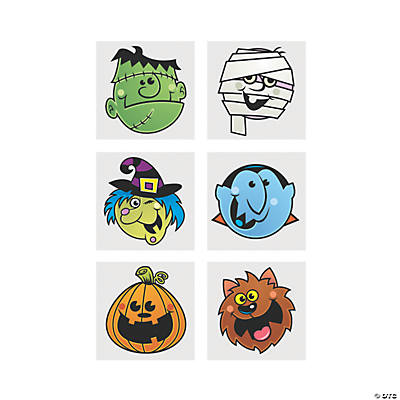 """Boo Bunch"" Halloween Tattoos"