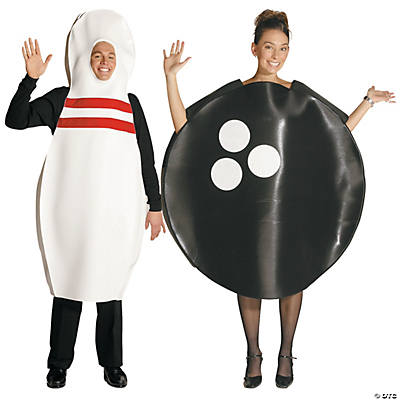 Bowling Pin & Bowling Ball Couples Costumes