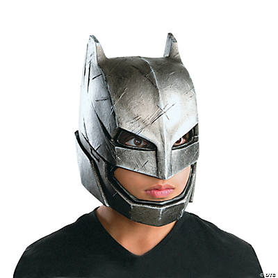 Boy's Armored 3/4 Batman Mask