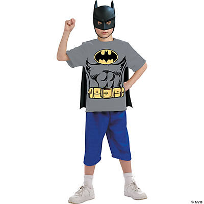 Boy's Batman Shirt Mask Cape Costume