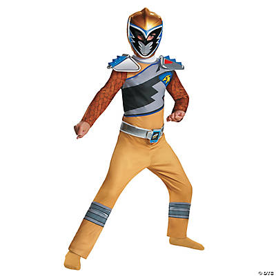 Boy's Classic Power Rangers Dino Gold Ranger Costume - Small