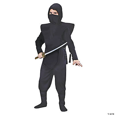 Boy's Complete Black Ninja Costume