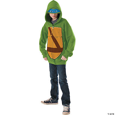 Boy's Hoodie Teenage Mutant Ninja Turtle Leonardo Costume