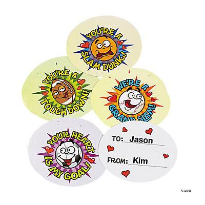 Boys Sport Ball Valentine Cards Oriental Trading Discontinued – Boys Valentine Cards