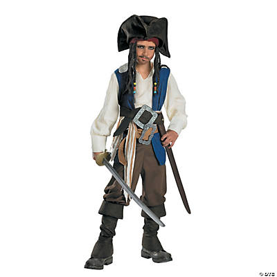 Boy's Standard Captain Jack Sparrow Costume
