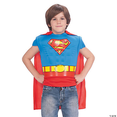 Boy's Superman Muscle Shirt Cape Costume