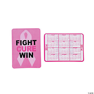 2014 Breast Cancer Awareness Wallet Card Calendars