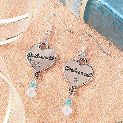 pearl bridesmaid silver drop earrings angel lisa sterling pink