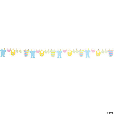 Bright Baby Shower Clothesline Garland