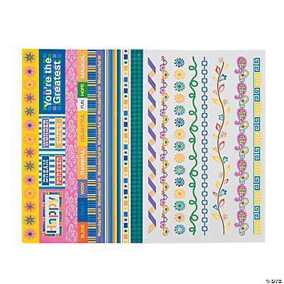 Bright Border Stickers