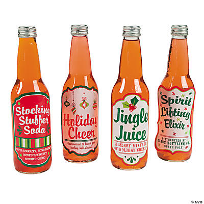 Bright Christmas Bottle Labels