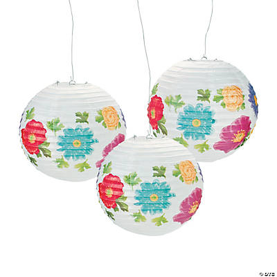 Bright Floral Paper Lanterns