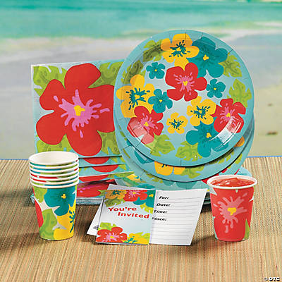 Bright Hibiscus Tableware & Invitations