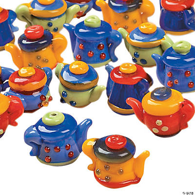 Bright Teapot Lampwork Beads - 10mm x 15mm