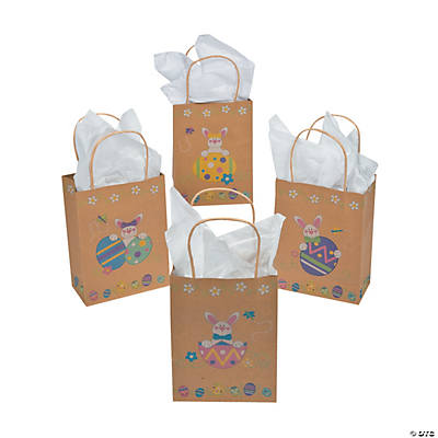 brown paper easter bunny u0026 eggs gift bags