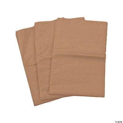 60 Brown Tissue Paper Sheets