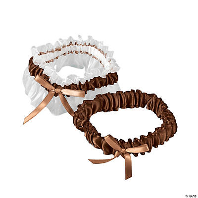 Brown Wedding Garter Set