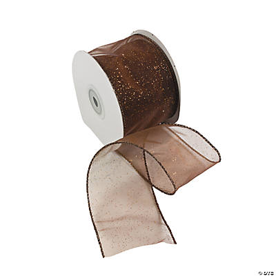 Brown Wired Ribbon