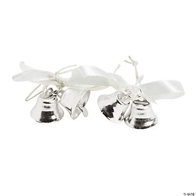 Bubble Bottle Silver Bell Tie-Ons