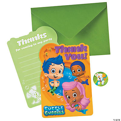 Bubble Guppies Postcard Thank You Cards