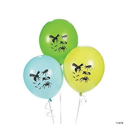 Bug Silhouette Latex Balloons