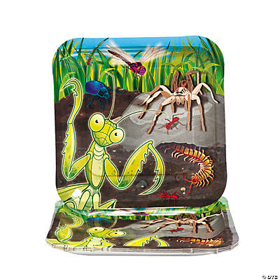 Bug Square Dinner Plates