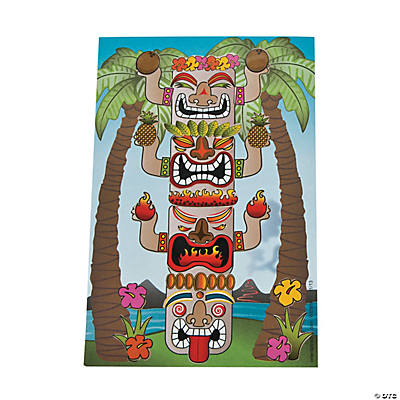 Build Your Own Tiki Totem Pole Sticker Scenes