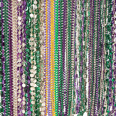 Bulk Mardi Gras Beads Assortment - 250 pcs.