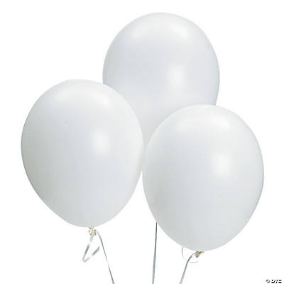 Bulk White Latex Balloons - 11""