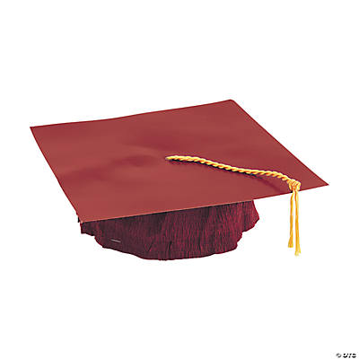 Burgundy Cardboard Graduation Caps