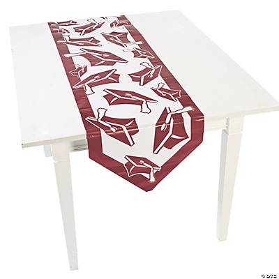 Burgundy Congrats Grad Table Runner