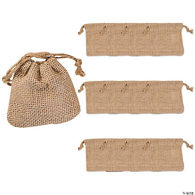 Burlap Mini Drawstring Bags