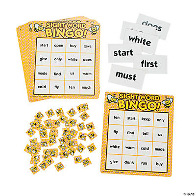 Busy Bee Sight Word Bingo Game