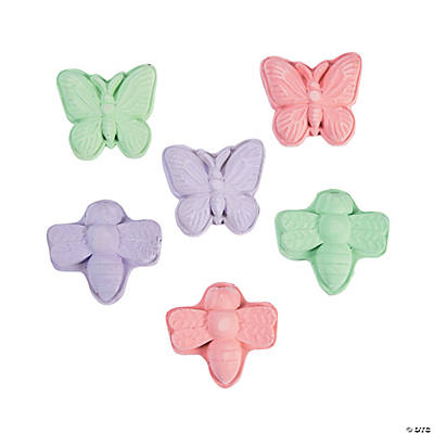Butterfly & Dragonfly-Shaped Chalk