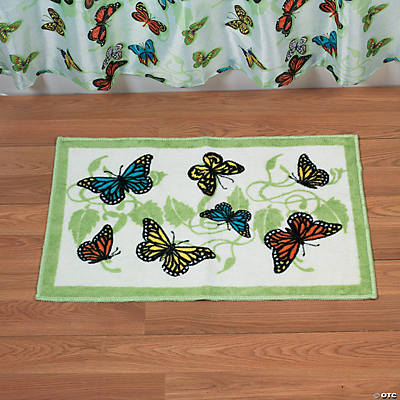Butterfly Bathroom Bath Mat