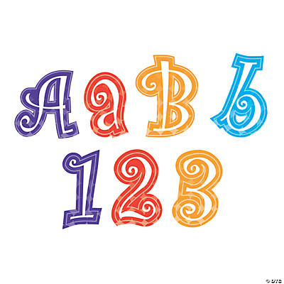 Butterfly Letters & Numbers