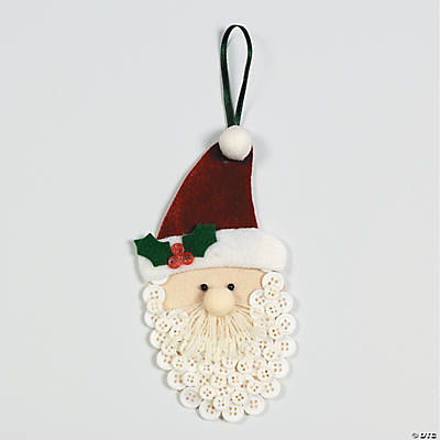 Button Beard Santa Christmas Ornaments Craft Kit