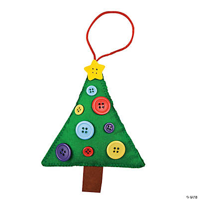 Button Christmas Tree Ornament Craft Kit