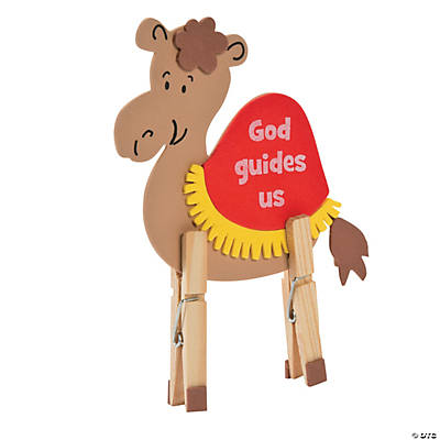 Camel clothespin craft kit for Craft kits for kids in bulk